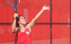 Girls tennis wins against West