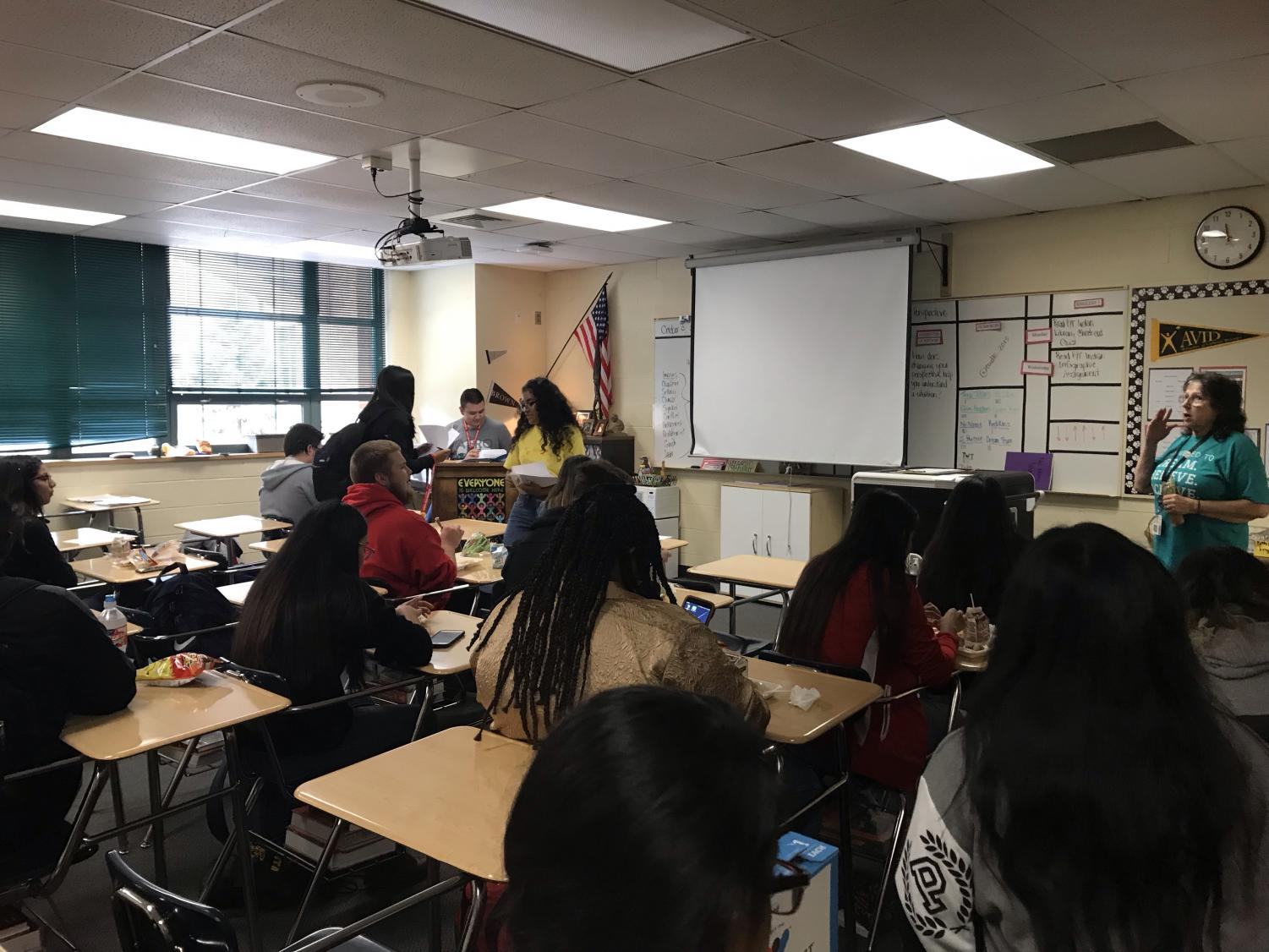 History Club holds second meeting of the year.
