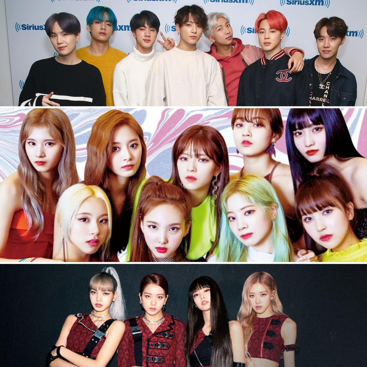 K-pop groups BTS, TWICE, and BLACKPINK are all set to make