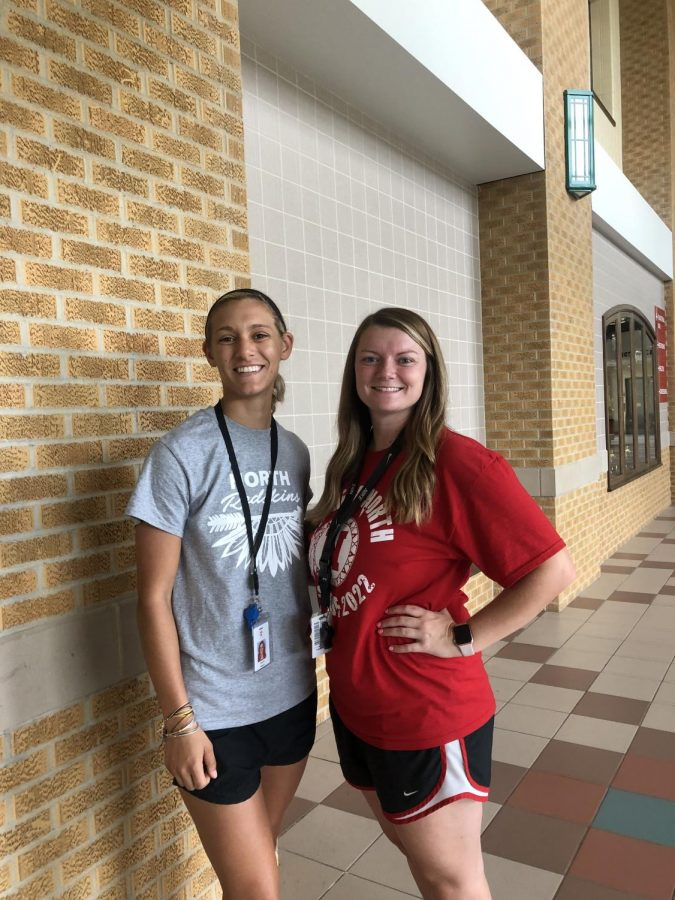 New to North are P.E. teachers, Ms. Belsom (left) and Ms. Foss (right).