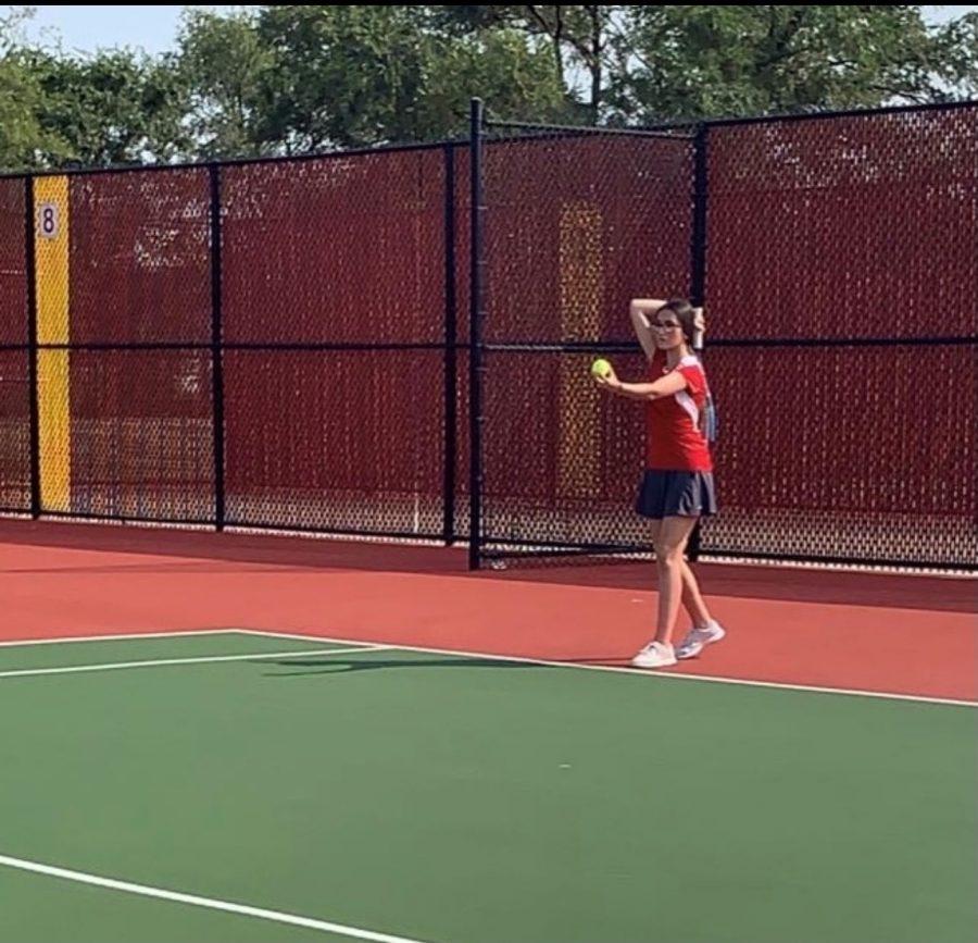 Tennis Girls Win Over West